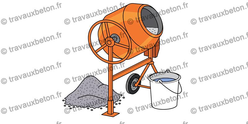 bétonnière utilisée pour faire du béton