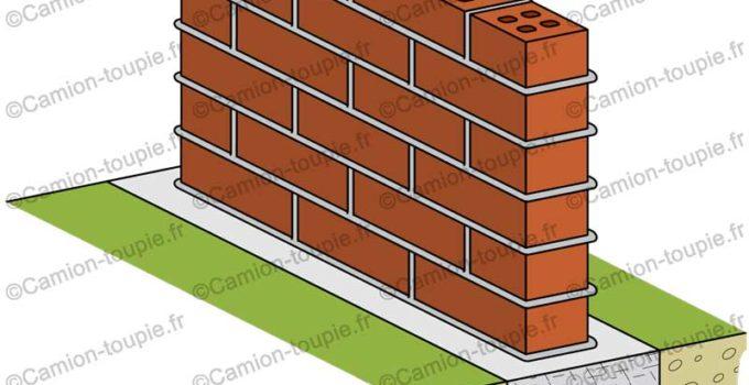 semelle en béton pour mur cloture en brique