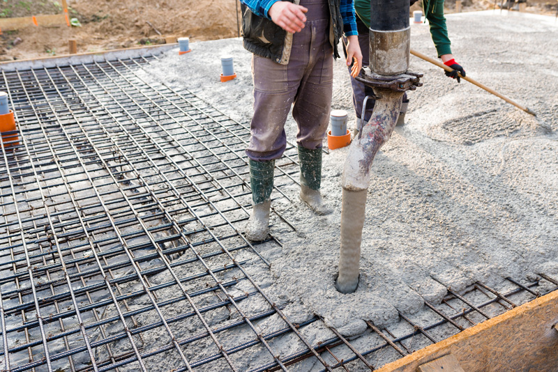 pompage beton dalle beton arme radier