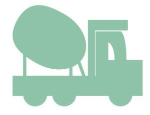 transport du béton par un camion toupie béton