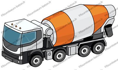 livraison de béton camion toupie