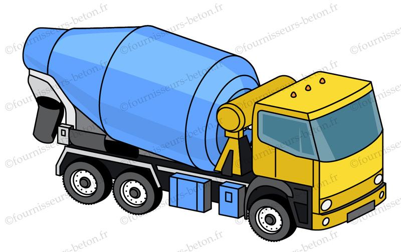 camion malaxeur toupie beton